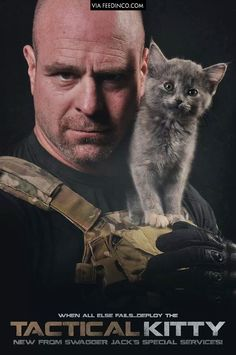 OP: A cat showed up during a photoshoot my brother was doing for a tactical magazine
