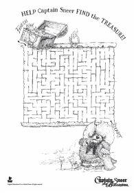 Free printable Captain Sneer maze.