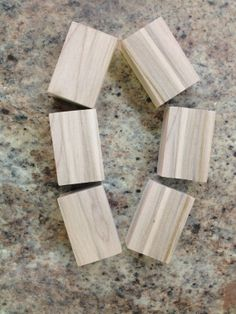 6 wooden blocks made of maple with a by FaithinGodRanchshop, $4.50