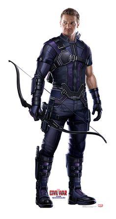Hawkeye from Captain America Civil War Life-Size Cardboard Standup