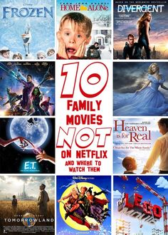 10 Family Friendly Movies that Aren't on Netflix and Where You Can Watch Them. #sponsored #notonnetflix #watchinstantly #familymovies #tipsfromamom