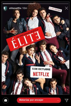 Elite - Netflix New Releases Series Españolas Netflix, Films Netflix, Tv Series To Watch, Shows On Netflix, Movies And Tv Shows, Movies Box, Daddy Yankee, Teen Wolf Saison 6, Noms Snapchat