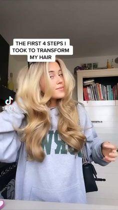 Hair Tips Video, Hair Videos, Pretty Hairstyles, Straight Hairstyles, Hairstyles Haircuts, Hair Growing Tips, Healthy Blonde Hair, Aesthetic Hair, Hair Care Routine