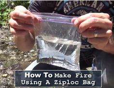 How To Start A Fire Using A Ziploc Bag - this is one of those survival hacks, that could be handy one day... #shtf #survival #camping #emergency
