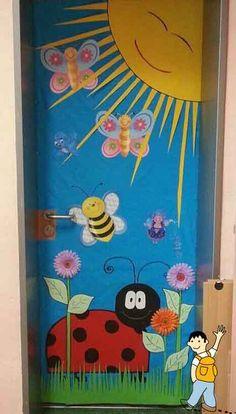 Decoración puerta colegio: Primavera