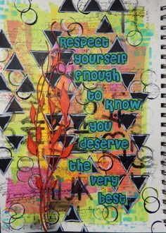 Respect Yourself an Art Journal mixed media page by Christy Butters