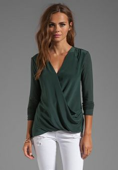 ca1997c53c2 BAILEY 44 Road Not Taken Wrap Top in Green at Revolve Clothing - Free  Shipping!
