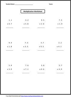 Math Decimals Worksheets - Math Riddles - 4th, 5th, 6th, 7th Grade ...