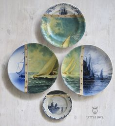 Altered Perspectives - Plates As Canvases by Little Owl Designs.