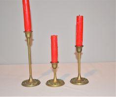 Vintage Brass Art Nouveau Candle Holders Art Nouveau, Art Deco, Home Trends, Antique Brass, Candle Holders, Candles, Boho, Antiques, Modern