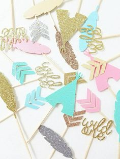 [ I T S . P A R T Y . T I M E ] Lets party!! Our Party Time Collection features fun and festive decorations to make your party pop! These decorations are perfect for birthdays, baby showers, weddings, engagements, new years, or any other party really! All items can be customized