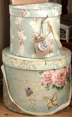 Next theme...My Cottage Hat boxes..
