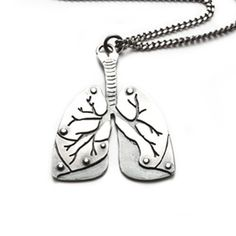 SALELungs necklace by missyindustry on Etsy, $60.00    i wont lie, this is kinda awesome
