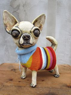 Custom-made pet sculptures by HomeyCreatures on Etsy