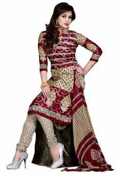 Indian Designer Wear Cream & Maroon Printed Salwar Kameez Fabdeal,http://www.amazon.com/dp/B00HRV9OWU/ref=cm_sw_r_pi_dp_j7Jqtb1BE9YM56B9