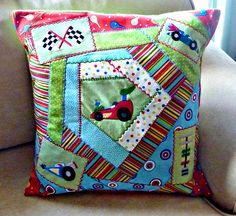 Maddox's Quilted and Embroidered Pillow Throw Pillows, Quilts, Cushions, Decorative Pillows, Patch Quilt, Kilts, Log Cabin Quilts, Decor Pillows, Comforters