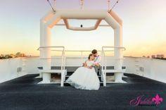 destin fla weddings alyson and josh dec 2015 on Solaris yacht sky deck sandestin
