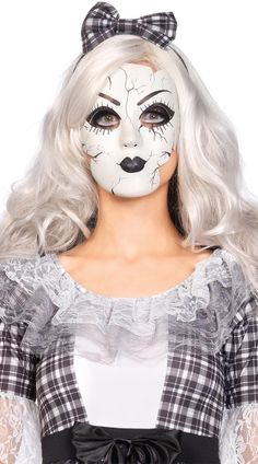 Cracked Porcelain Doll Mask