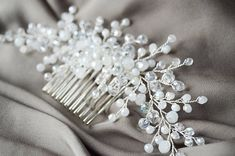 Beautiful hair comb in vintage design will be best addition for your wedding hair style. Special design! Ready to ship! Made with: glass beads, silver color wire and hair comb. Fully handmade. For any questions please contact, I will be happy to help you! Thank you for visiting my