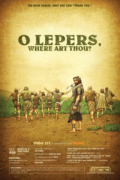 Monthly Story Poster - O Lepers, Where Art Thou? - Gratitude - November 2014