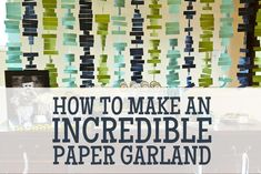 DIY How to make an INCREDIBLE paper garland backrop for parties. Super easy to customize to your colors!    www.solandrachel.com/2012/09/papergarland.html