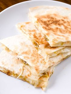 Roasted hatch chilies, caramelized onions and pepper jack cheese make this one heck of a quesadilla.