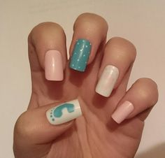 Baby Shower False Nails / It's A Girl / It's A Boy by NicolasNails14 / For Mom / Mommy and Me / Mam / Mum / Gifts / DIY / Ideas / Presents / Mothers Day