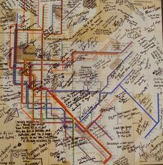 Rick and Kris love to travel in New York City, so we got them this map of the NYC subway and had all their guest sign it! #Wedding #WeddingGifts #NYC