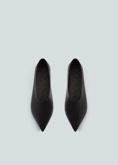 Premium - leather babouches | MANGO