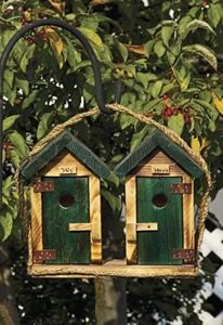 This his and hers outhouse birdhouse is so cute!