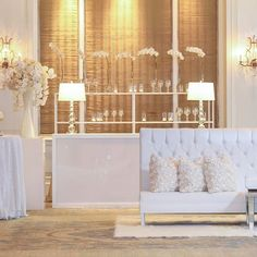 Our WHITE rental collection is available EXCLUSIVELY to Branching Out clients! Collection includes acrylic columns, acrylic-front bar facades, back bar shelving, stage facade (not pictured) and tufted banquettes! 📸 @johncainsargent @hotelcrescentcourt #branchrentals #eventdesign