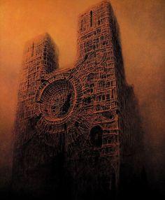 Permettez-nous de vous faire voyager dans le monde étrange de l'artiste polonais Zdzisław Beksiński.
