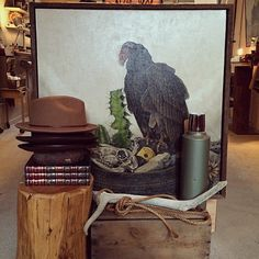 Love this vignette from @hammerandawl with artwork by Hickory Mertsching #pinoftheweek