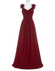 Prom Dresses,Evening Dress,Long Evening Dress Sexy V Neck Ruched Padded Formal Wedding Party Dress Burgundy Evening Gowns