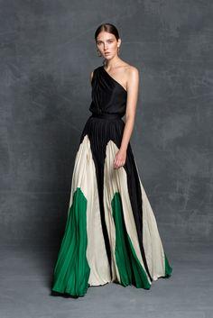 Fashion One Shoulder Sleeveless Color Block Maxi Dress Gala Dresses, Evening Dresses, Chiffon Dresses, Long Dresses, Formal Dresses, Trendy Fashion, High Fashion, Womens Fashion, Contemporary Dresses