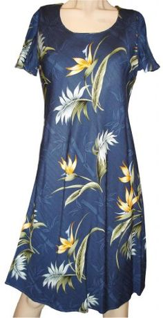 Bamboo Paradise Hawaiian Dress  Womens Hawaiian Dress  Aloha Dress  Hawaiian Clothing  100 Rayon Navy XL * Read more  at the image link. (This is an Amazon affiliate link and I receive a commission for the sales and I receive a commission for the sales) #FashionDresses