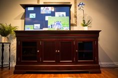 The Tuscany is a beautiful custom tv cabinet made by Activated Decor. Built equipped with the smoothest, quietest tv lift in the industry, and a 5 Yr Warranty! Pop Up Tv Cabinet, Liquor Cabinet, Living Room Cabinets, Tv Cabinets, Tv Furniture, Cabinet Making, Tuscany, Storage Spaces, Living Room Designs