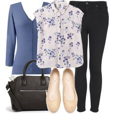 Lydia Inspired Outfit with Flats and a Cardigan by veterization on Polyvore featuring polyvore, fashion, style, Rebecca Taylor, Poetic Licence, Topshop, Chloé, MANGO, Ariella Collection and clothing