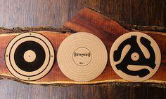 Handmade Engraved Cork Anti-Static Turntable Slipmat  by miniFab