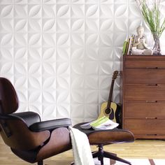 Inhabit Chrysalis Wall Flat tiles.  Box of 10=22.5 Sq ft. is $86.  Gotta use this somewhere.  Teag's room or backsplash.