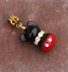 Your place to buy and sell all things handmade Style Disney, Beads Of Courage, Mickey Mouse Earrings, Vintage Charm Bracelet, Charm Bracelets, Pandora Gold, Minnie Mouse, Disney Jewelry, Disney Inspired