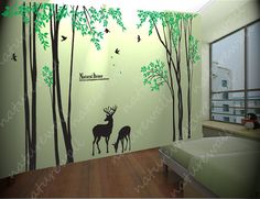 Wouldn't Justin love this!! Forest Decals room decor wall stickers  Kids wall by NatureWall, $120.00