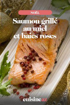 Le saumon grillé au miel et baies roses est un plat végétarien à déguster lors du réveillon de Noël. #recette#cuisine#saumon#miel #scucresale #noel#fete#findannee #fetesdefindannee Baies Roses, Baked Potato, Entrees, Potatoes, Baking, Ethnic Recipes, Food, Gourmet, Dinner Parties