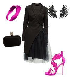 """Untitled #145"" by narrebybn on Polyvore featuring Lattori, Oscar de la Renta, L. Erickson, Alexander McQueen, women's clothing, women's fashion, women, female, woman and misses"