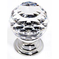 PC - Swarovski Crystal I - Spherical Knob - Polished Chrome (Swarovski Crystal I - Polished Chrome). * Swarovski Crystal I by Alno - Cabinet Knob * Base Material - Solid Brass * Crystals made w/Swarovski Elements * Dimensions: Diameter - 1 Projection - 1 Crystal Knobs, Faceted Crystal, Clear Crystal, Swarovski Crystals, Cabinet And Drawer Knobs, Knobs And Handles, Knobs And Pulls, Cabinet Hardware, Dresser Knobs