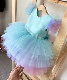 Baby Pageant Dresses, Baby Girl Party Dresses, Birthday Girl Dress, Little Girl Dresses, Girls Dresses, Baby Dress Design, Baby Girl Dress Patterns, Baby Frocks Designs, Princess Outfits