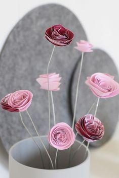 Papierblumen selber machen I http://schoenesleben.net/papierblumen-selber-machen/