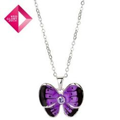 Swarovski elements rhinestone butterfly pendant necklace wholesale women casual dress from Reliable necklaces suppliers on NEOGLORY JEWELRY