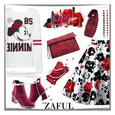 """www.zaful.com/?lkid=8105"" by esma178 ❤ liked on Polyvore featuring Disney, Clinique, women's clothing, women's fashion, women, female, woman, misses, juniors and sale"