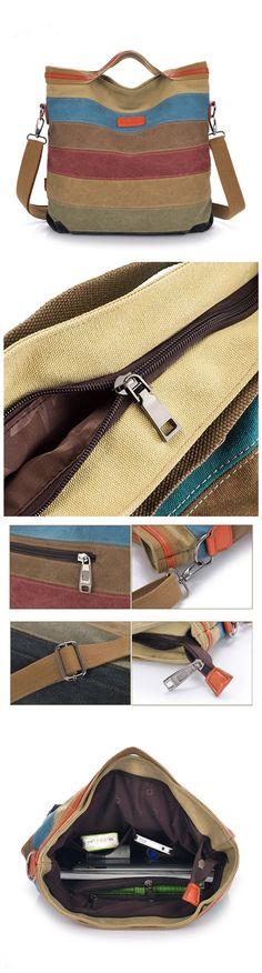 Women's Handbag Canvas Casual Tote Shoulder Bags Crossbody Purse Bagail.com